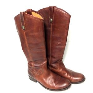 Frye Melissa Button Riding Boot  77167 Brown